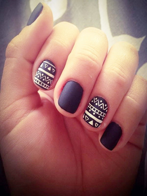 Fall Inspired Matte Nail Art Designs