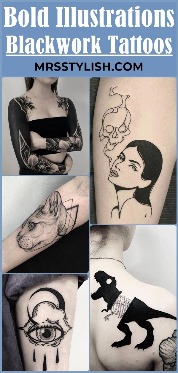Bold Illustrations Blackwork Tattoos