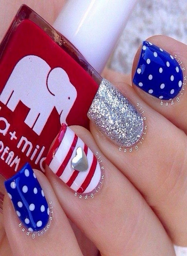 Patriotic 4th of July Nail Arts Ideas