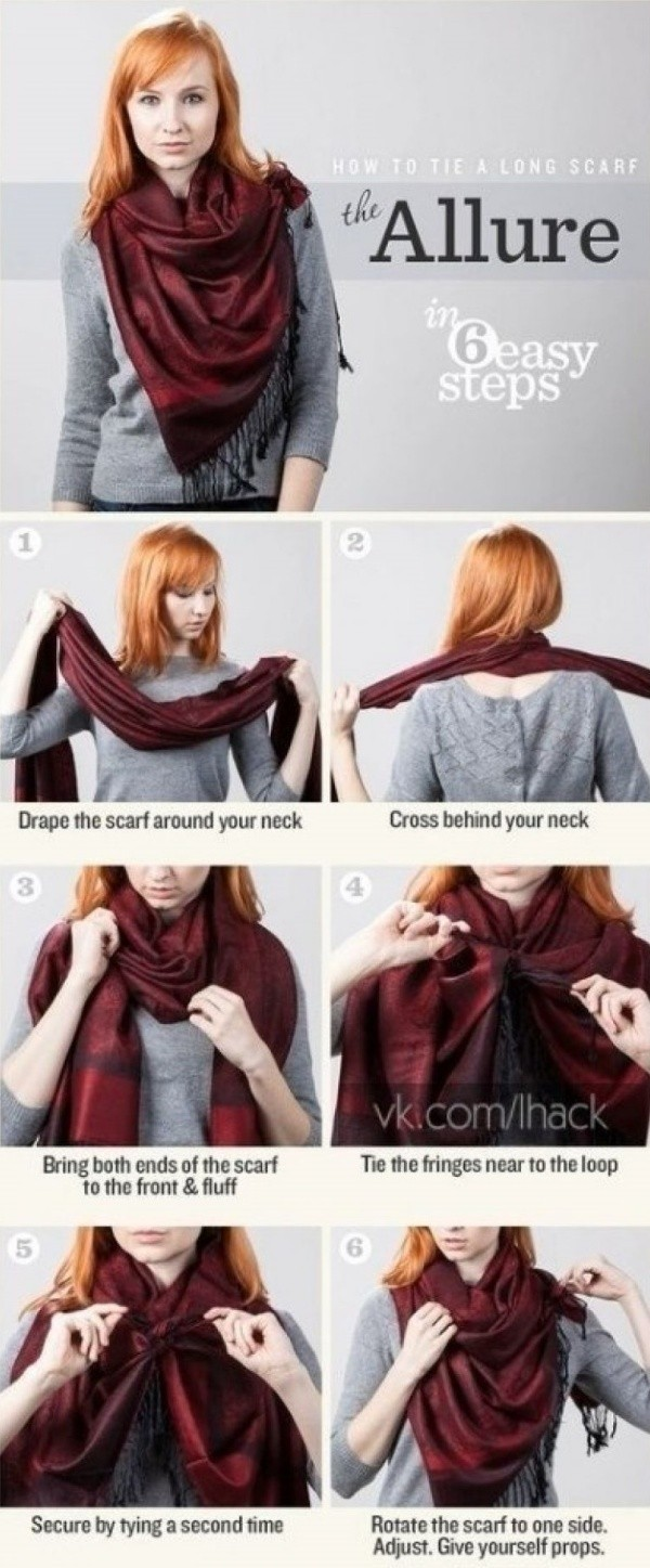 Unique Ways To Tie a Scarf