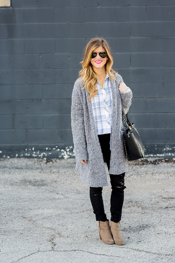 Lovely Plaid Outfits To Keep You Warm This Winter